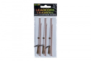 Готовая оснастка ESP Leadcore Leaders Helicopter Rigs 3шт.