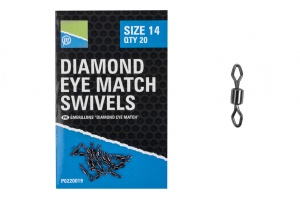 Вертлюг Preston Diamond Eye Match Swivels