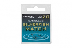 Крючки Drennan Silverfish Match Barbless 10 шт