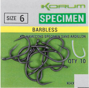 Крючки Korum Xpert Specimen Hook Micro Barbless 10 шт