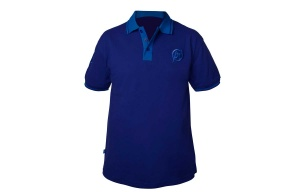Футболка PRESTON TWO TONE BLUE POLO SHIRT