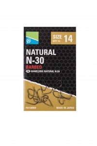Крючки Preston Natural N-30 Barbed 15шт.