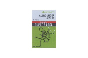Крючки Korum Supersteel Allrounder Hooks Barbed 10шт.