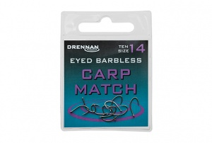 Крючки Drennan Eyed Barbless Carp Match 10шт.